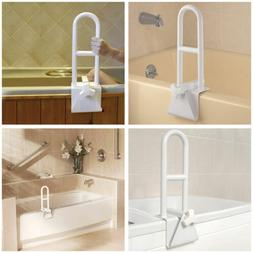 Bathtub Durable Grab Bar Safety Rail Lock to Tub Side Clamp