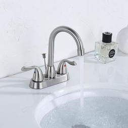 Bathroom Vanity Sink Lavatory Faucet 3 Hole 4-inch Centerset