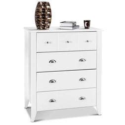 Bedroom Classic Chest Clothes Cabinet Storage With 4 Drawers
