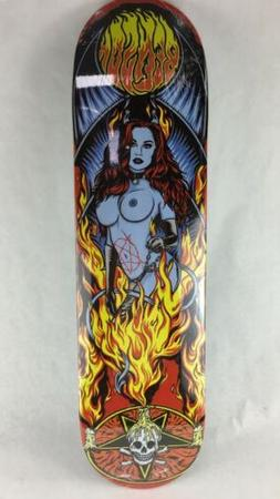 "Benson Devil Women Pro deck Death Skateboards 7.75 "" with gr"