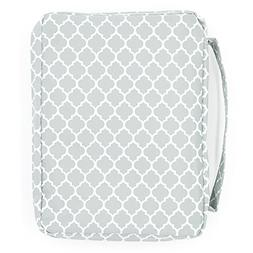 Bible Cover, Gray Trellis Patterned Book Covers with Pockets