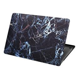 BCP Black Marble Pattern Smooth Rubberized Plastic Hard Case