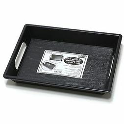 Black Plastic SIMPLE DESIGN SERVING TRAY WITH HANDLES Food B