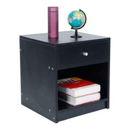 black round handle with one drawer side