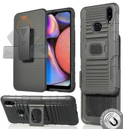 Black Rugged Grip Case with Stand + Belt Clip Holster for Sa