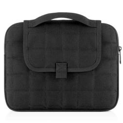 Black Tactical Tablet  IPad Case Netbook Bag with Handle Fit