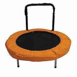 JumpKing 48-Inch Bouncer Kids Mini Small Trampoline with Han