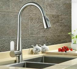 Brand New Pull Out Sprayer Kitchen Faucet Brushed Nickel Sin