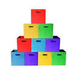Bright Colors Storage Bins with Plastic Handles, Containers