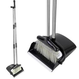Broom and Dustpan Set With Sturdy Long Handle Combo For Kitc