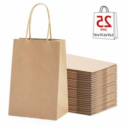 New Brown Paper Shopping Bag Kraft Gift Party with handles c