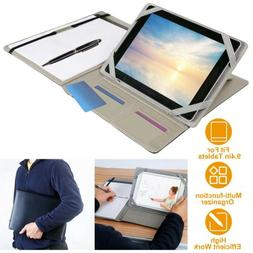 Business Notepad and Tablet Portfolio Carry Case with Handle