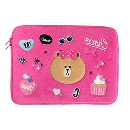 LINE FRIENDS Choco Pink Laptop Sleeve 13 Inch Pink
