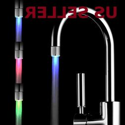 Christmas 3Color Shower Kitchen WaterTap RGB LED Faucet Temp