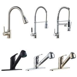 Chrome Brass Pull Down Kitchen Mixer Tap Swivel Sink Faucet