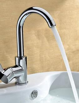 Ling@ Chrome Finish Solid Brass Bathroom Sink Faucet
