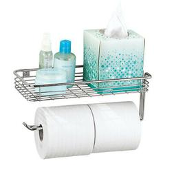 Chrome Finish Toilet Paper Holder with Long Handle to Hold T