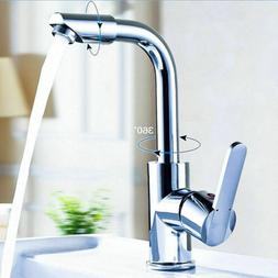 Chrome Moderm Kitchen & Bar Sink Faucet - Single Handle One