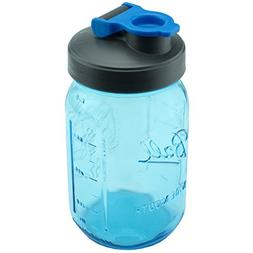 Classic Blue Mason Jar Drinking Bottle by County Line Kitche