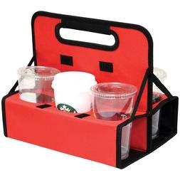Coffee Cup Carrier 6 Bag Holder Reusable Travel Drink With H