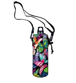 New Arrival Colorful Butterfly Sport Water Bottle Cover Carr