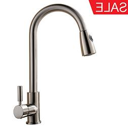 KINGO HOME Commercial Pull Out Single Lever Stainless Steel