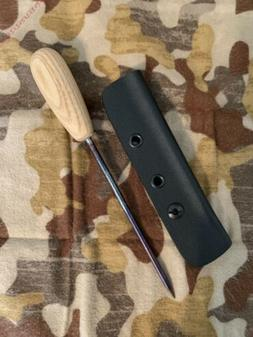 Custom Icepick With Hickory Handle, Steel Spike, And Kydex S