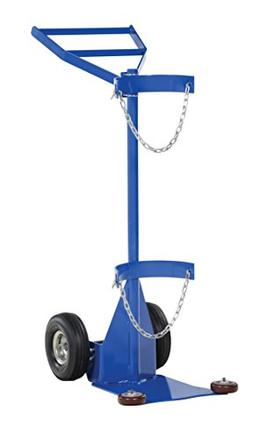 Vestil CYL-DLX-1-PN Deluxe Cylinder Dolly with Pneumatic Whe