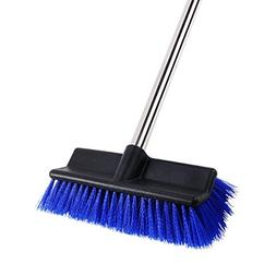 MEIBEI Deck Brush, Heavy Duty Deck Scrubber with Adjustable