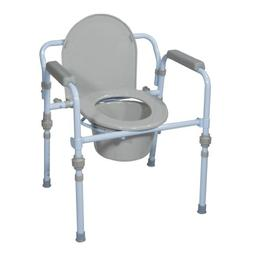 Drive Medical Deluxe Folding Commode with Commode Bucket and