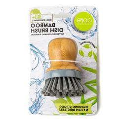 Core Bamboo Dish Washing Palm Brush with Ergonomic Handle