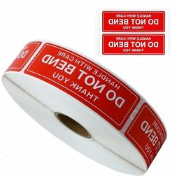 "DO NOT BEND STICKER HANDLE WITH CARE 1"" x 3"" STICKERS RO"