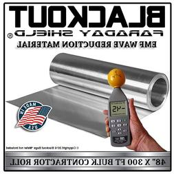 """EMF RF Faraday Cage Wave Reduction Material 48"""" X 300' Contr"""