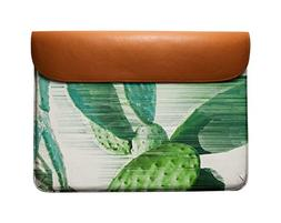 DailyObjects The Fastest Cactus Real Leather Envelope Sleeve