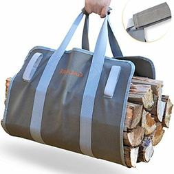 Canvas Log Tote Firewood Carrier Outdoor Travel Camping Fire