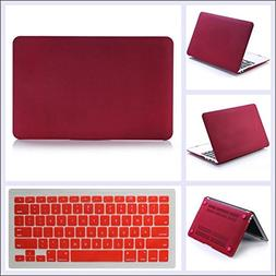 Rinbers Frosted Matte Wine RED Snap On Hard Skin Case Cutout