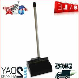 Genuine Dust Pan Dustpan Metal With Long Handle Lobby Uprigh
