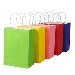 TOYMYTOY Gift Bag,Kraft Paper Bags with Handle Shopping Favo