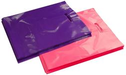 100 12x15 Glossy Pink and Purple Plastic Merchandise Bags w/
