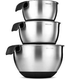 Premium Grade Stainless Steel Mixing Bowls With Comfortable