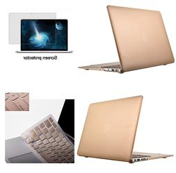 Hard Rubberized Case Cover + Soft Keyboard for Mac Macbook A