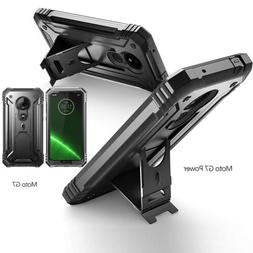 Heavy Duty Rugged Case For Moto G7 Power,With/ Built-in-Ki