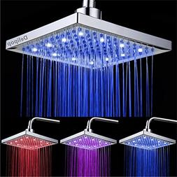 DELIPOP HN-11 LED Shower Head Temperature 3 Color Changing 8