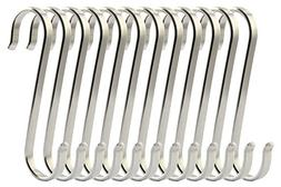 RuiLing 12-Pack Size Medium Flat S Hooks Heavy-Duty Genuine