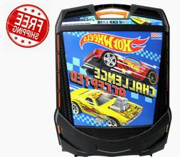 Hot Wheels 100-Car, Rolling Storage Case with Retractable Ha