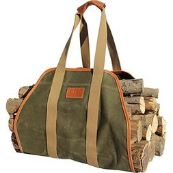"""INNO STAGE Waxed Canvas Log Carrier Tote Bag,40""""X19"""" Firewoo"""