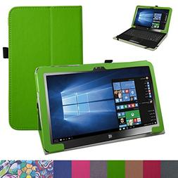 Insignia 11.6 NS-P11W7100 Case,Mama Mouth PU Leather Folio S