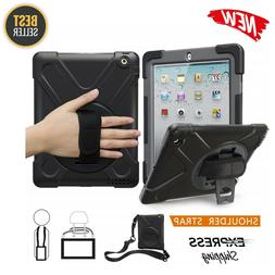 For iPad 2 3 4 With Handle Grip Shoulder Strap Stand Heavy D