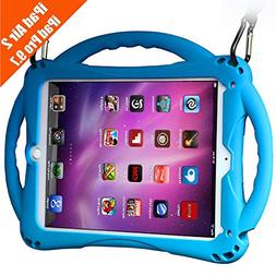 TopEsct iPad Air 2 Case for Kids, Shockproof Silicone Handle