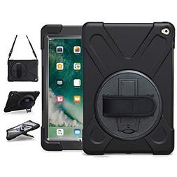 iPad Air 2 Case , TSQ Heavy Duty Carrying Protective Case wi